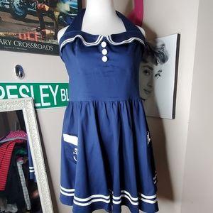Hellbunny Pinup Sailor Dress